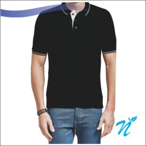 Collar Tshirt With Piping
