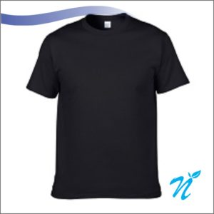 Round Neck Tshirt ( Black ) - 180 GSM