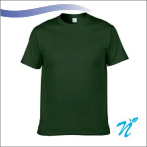 Round Neck Tshirt ( Bottle Green ) - 180 GSM