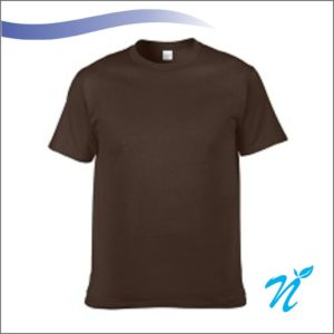 Round Neck Tshirt ( Brown ) - 180 GSM