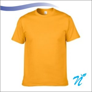 Round Neck Tshirt ( Golden Yellow ) - 180 GSM