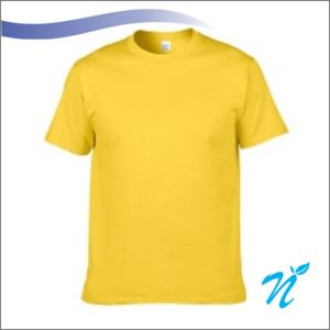 Round Neck Tshirt ( Lemon Yellow ) - 180 GSM