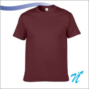 Round Neck Tshirt ( Marroon ) - 180 GSM