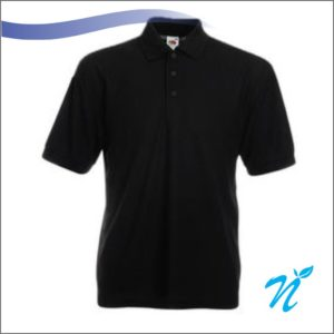 Collared Tshirt ( Black ) - 220 GSM