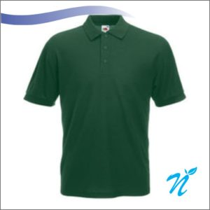 Collared Tshirt ( Bottle Green ) - 240 GSM