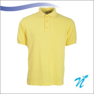 Collared Tshirt ( Lemon Yellow ) - 240 GSM
