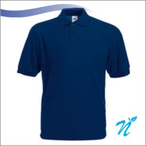 Collared Tshirt ( Navy Blue ) - 240 GSM