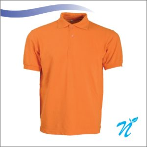 Collared Tshirt ( Orange ) - 240 GSM