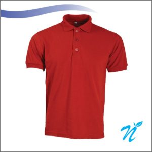 Collared Tshirt ( Red ) - 220 GSM