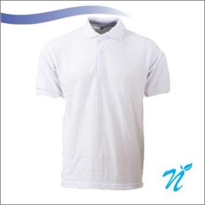 Collared Tshirt ( White ) - 260 GSM