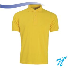 Collared Tshirt ( Yellow ) - 240 GSM