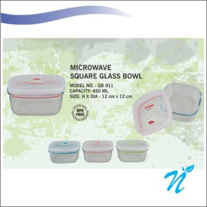 Microwave Square Glass Bowl