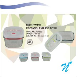 Microwave Rectangle Glass Bowl