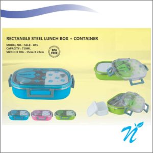 Rectangle Round  Lunch Box
