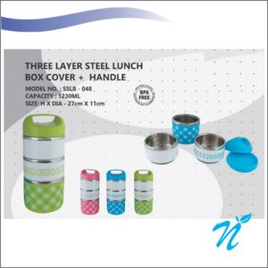 3 Layer Steel Lunch Box