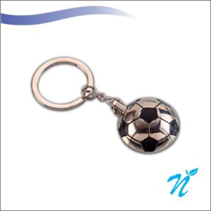 Football Shaped Metal Keychain