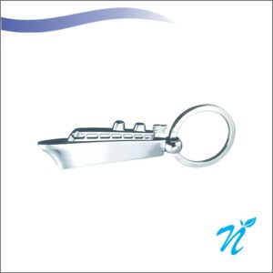 Ship Shaped Metal Keychain