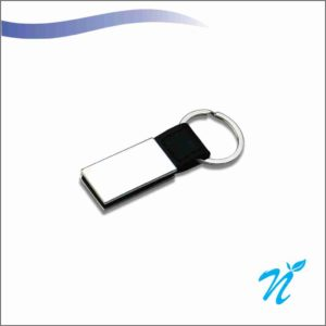 Silver Coloured Metal Keychain
