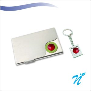 Giftset of Keychain and Card Holder