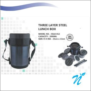 Three Layer Steel Lunch Box