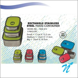 Rectangle Stainless Steel Food Container