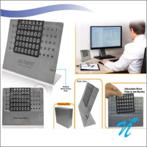 Steel Life time Calendar with Month Display (Big Size)