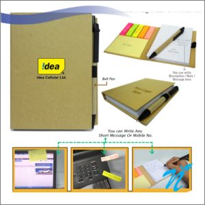 Eco Sticky Pad with Pen
