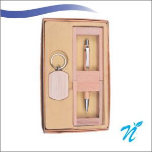 Wooden Gift Set with Wooden Pen