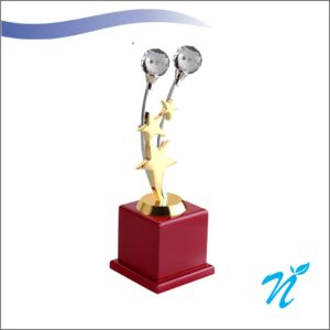 Brass & Wood Combined Trophy (Small)