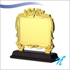 Gold Plate Plaque