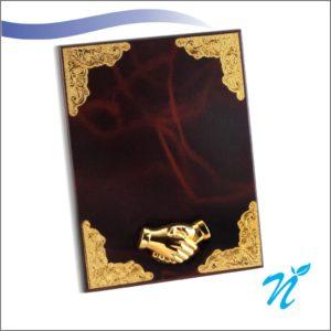 Wooden Plaque Gold
