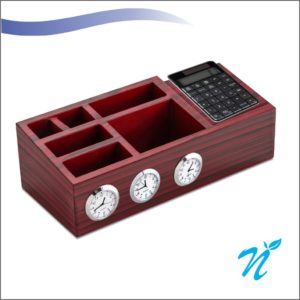 Wooden Desk Organiser of Various Countries