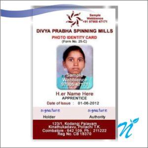 Multi Colour School ID Cards