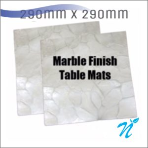 Silicone Marble Finish Table Mats (2 pcs Set)