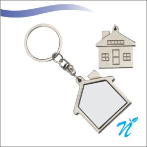 Home Shape Metal Keychains