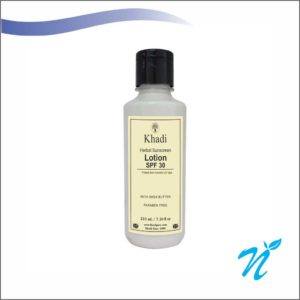 Khadi Pure Herbal Sunscreen Lotion (SPF 30) With She Butter