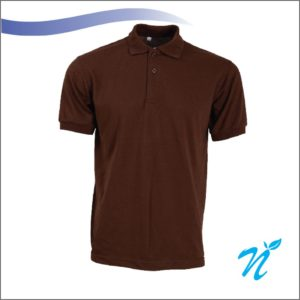 Collared Tshirt ( Brown ) - 240 GSM