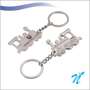 Engine Shaped Metal Keychain
