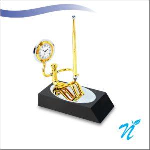Brass & Wood Pen Stand
