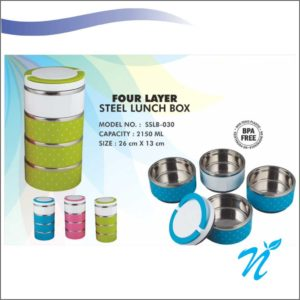 Four Layer Steel Lunch Box