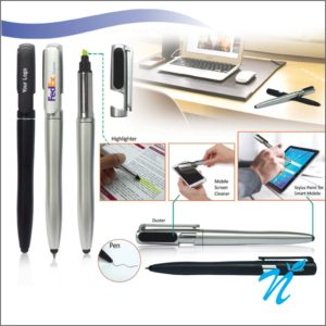 4 in 1 Stylus Pen with Screen Cleaner