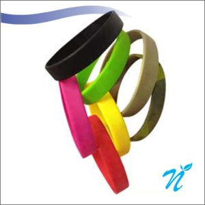 Silicone Wrist Bands ( 12 mm )