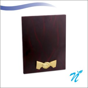 Brass & Wood Combined Plaque (Gold)
