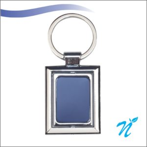 Blue Colour Metal Keychains (Steel Plate)
