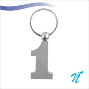 Number 1 Metal Keychains (Steel Plate)