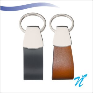 Leatherite Metal Keychains (Colour Plate)