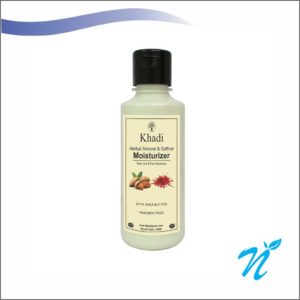 Khadi Pure Herbal Almond & Saffron Moisturizer With Sheabutter SLS-Paraben Free