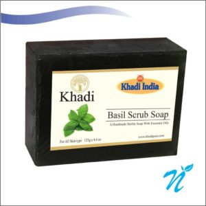 Khadi Pure Herbal Basil Scrub Soap