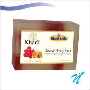 Khadi Pure Herbal Rose & Honey Soap