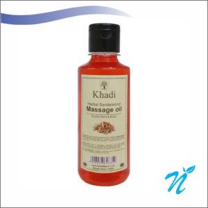 Khadi Pure Herbal Sandalwood Massage Oil